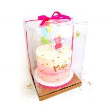 Caja de pvc transparente reciclable alimentario para pastel
