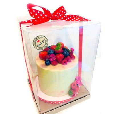 Caja de pvc transparente para pastel