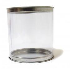 Caja tubo de PVC transparente