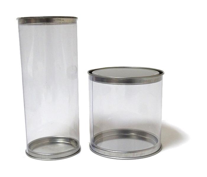 Packaging 37 Diseños De Envases Con Aluminio: Cajas Tubo De PVC Transparente Con Tapa De Aluminio
