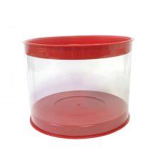 Caja de tubo de pvc transparente tapa polietileno